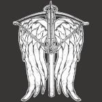 Angel Wings and Crossbow