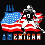 All American Football player 4 blue