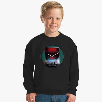 Stranger Things Arcade Stranger Clock Kids Sweatshirt - Kidozi com