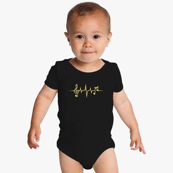 Baby Onesie Short Sleeve Baby Boys Girls Printed Onesies MUSOWIC Queen-Logo