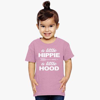 da805b05c A Little Hippie a Little Hood Arrow Funny Life Toddler T-shirt | Kidozi.com