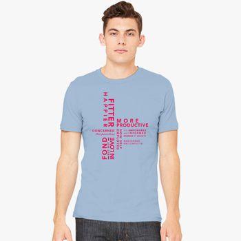 103450ce FITTER HAPPIER Men's T-shirt | Kidozi.com