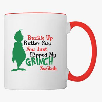 Details about  /Grinch Santa Buckle Up Butter Cup I Have Anger Issues Christmas Coffee Mug