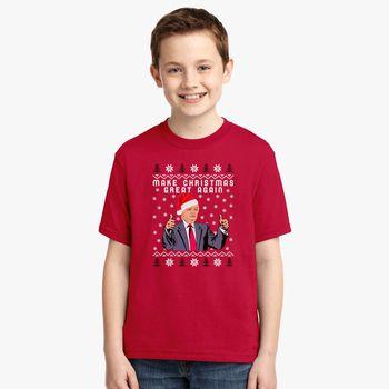Christmas Trump Shirt.Trump Make Christmas Great Again Youth T Shirt Kidozi Com