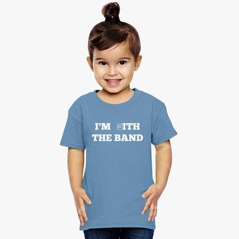 002f0ba0 I'm With The Band Toddler T-shirt | Kidozi.com