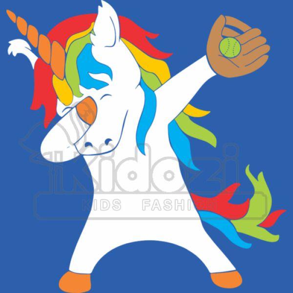 Dabbing Softball Unicorn Kids Hoodie Kidozi Com