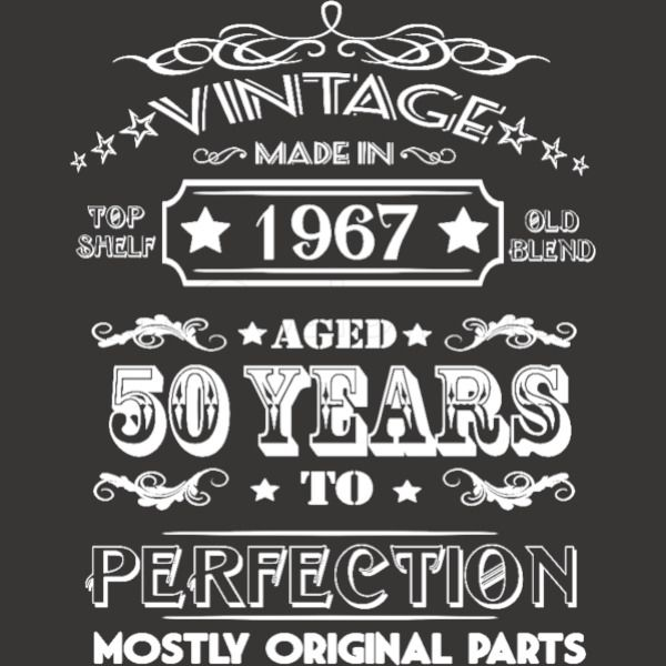 Vintage Age 50 Years 1967 Perfect 50th Birthday Mens T Shirt