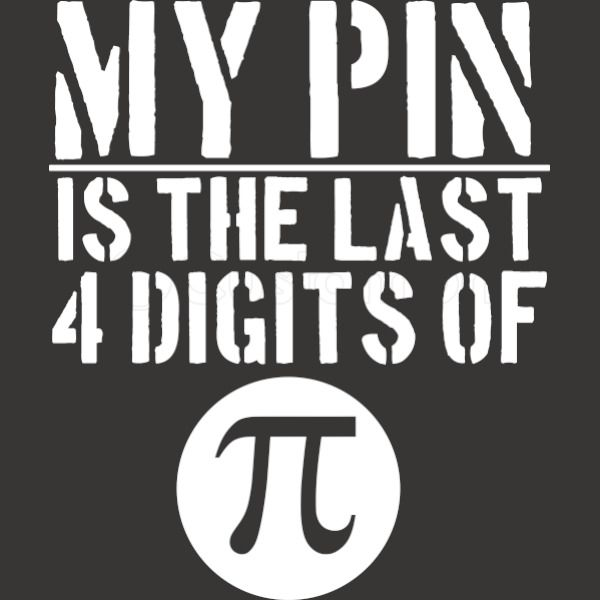 My PIN is the last 4 digits of PI Baby Bib | Kidozi com