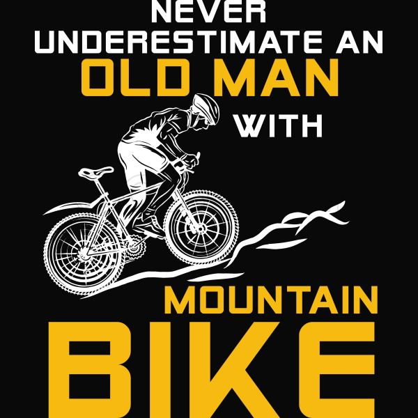 efdadc42 Never Underestimate An Old Man With A Mountain Bike - Funny Bike Toddler T- shirt ...