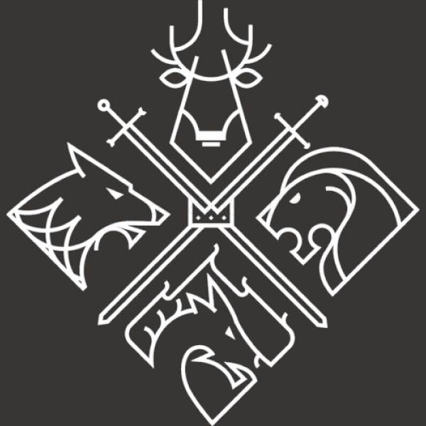 Game Of Thrones Minimal Logos Men's T-shirt   Kidozi.com