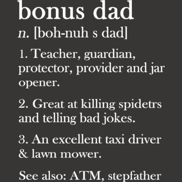 d7399712 Happy Fathers Day Bonus Dad Definition Baby Onesies | Kidozi.com
