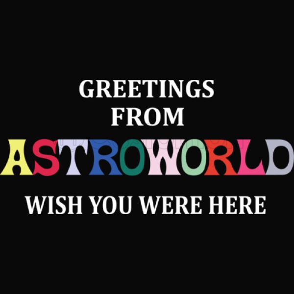 25a767a43f43 Greetings From Astroworld Wish You Were Here v2 Unisex Hoodie ...