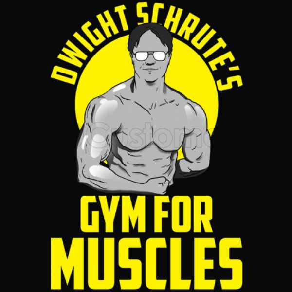 378cd8b3 Dwight Schrute gym muscles Unisex Hoodie | Kidozi.com