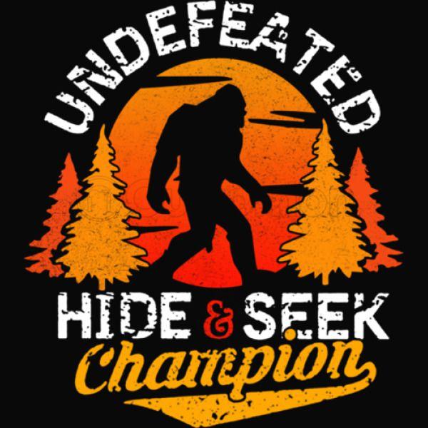 920b8357 Bigfoot Hide and Seek Champion Of The World Men's T-shirt | Kidozi.com