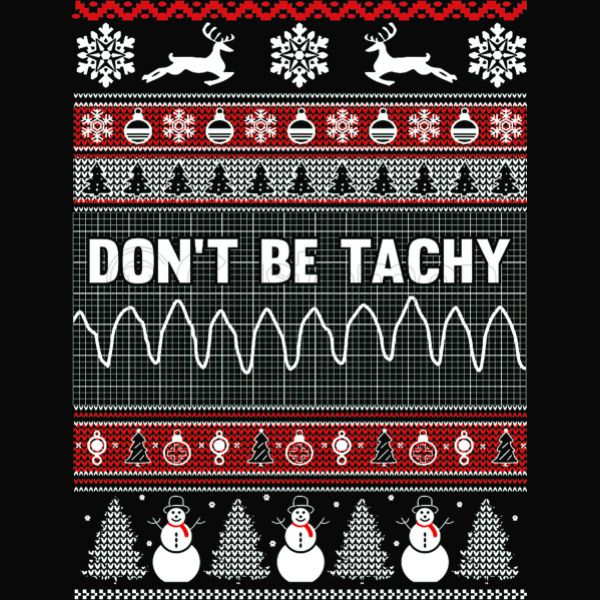 Nurse Christmas Sweater.Don T Be Tachy Nurse Ugly Christmas Sweater Apron Kidozi Com