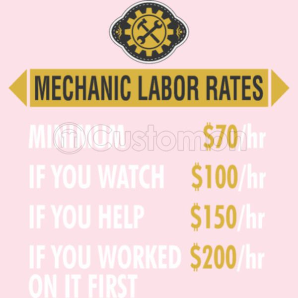 Mechanic Labor Rates Per Hour Kids Hoodie | Kidozi com