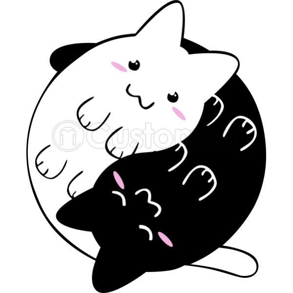 Yin Yang Cats Kittens Kids Tank Top