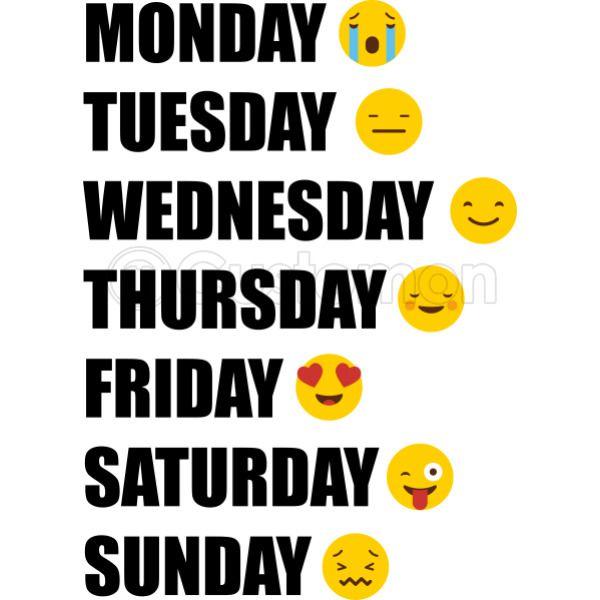 Days Of The Week Emoji Apron Kidozi Com