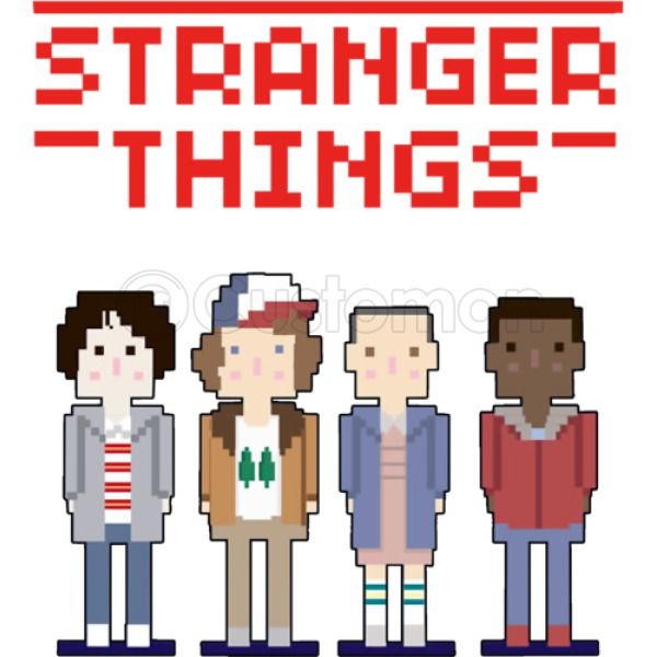 Stranger Things Fan Art Kids Hoodie Kidozicom