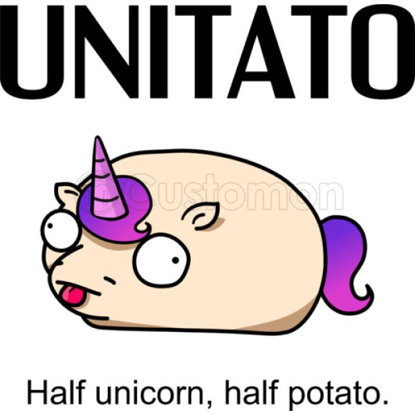 Unitato Unicorn And Potato Kids Tank Top Kidozicom