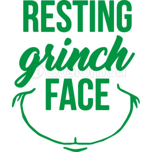 8105c8f084e34 resting grinch face Kids Hoodie