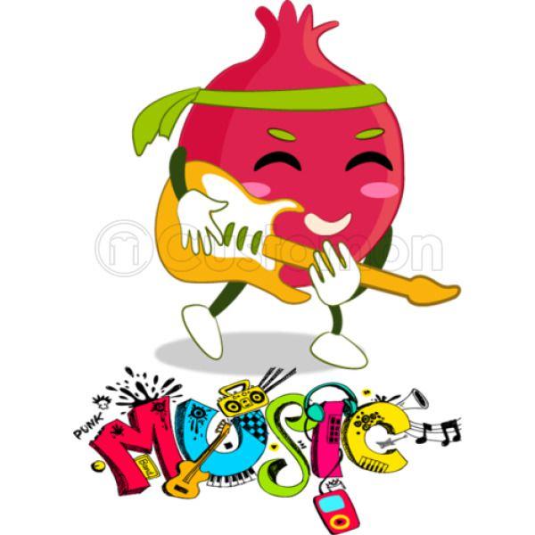 Funny Fruit Music Guitarist Kids Sweatshirt | Kidozi com