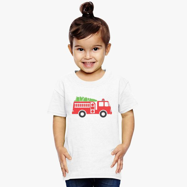 20588aef60b Christmas Fire Truck Toddler T-shirt +more
