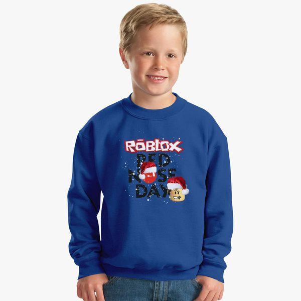 7db44936eb5746 Roblox Christmas Design Red Nose Day Kids Sweatshirt