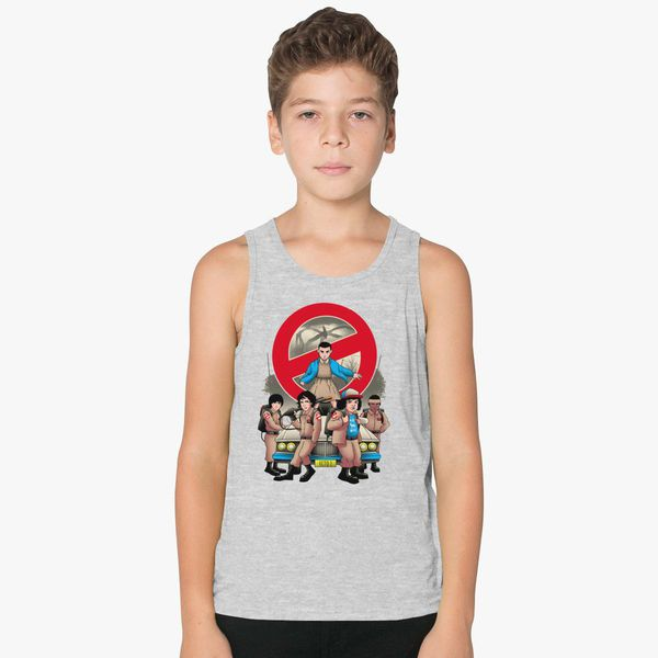 a16246f25 DEMON BUSTERS Stranger Things Ghost Busters Parody Kids Tank Top |  Kidozi.com