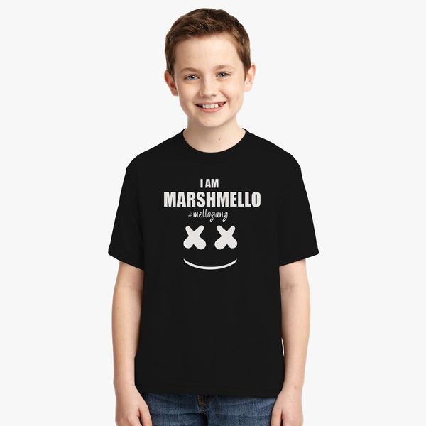 aa693e9b Marshmello The Dj I am Marshmello Mellogang Youth T-shirt | Kidozi.com