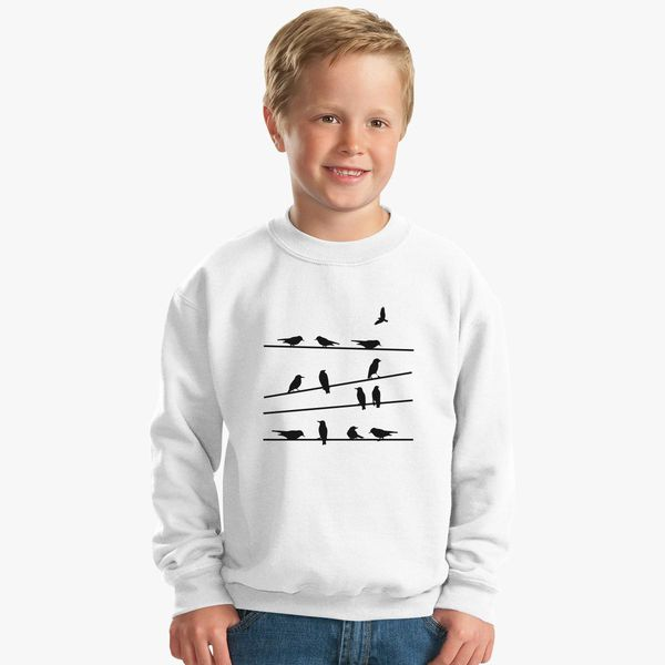 Birds Doing Yoga Kids Sweatshirt | Kidozi com