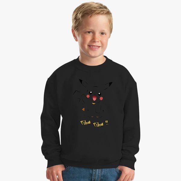 92ada516ca14 Pika Pika !! Kids Sweatshirt +more