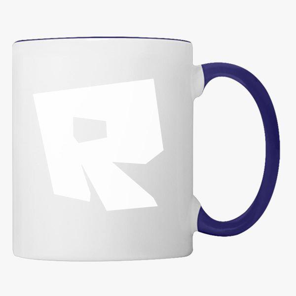 White New Roblox Logo Roblox Logo Coffee Mug Kidozi Com