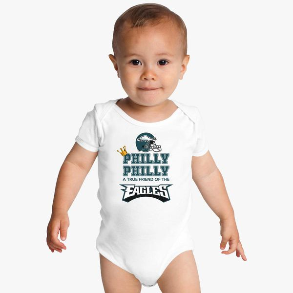 1d78b47b40 Crown Philly Dilly a True Friend Of The Eagles Baby Onesies | Kidozi.com