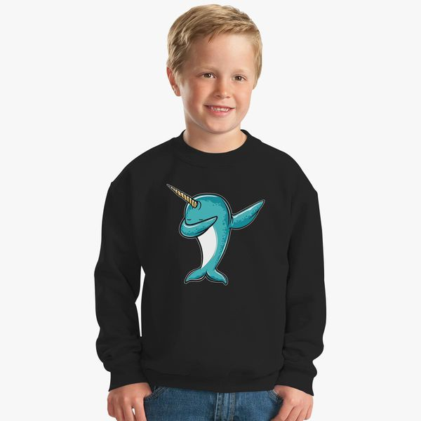 097861a30 Funny Narwhal Dab, Dabbing Narwhal Kids Sweatshirt | Kidozi.com