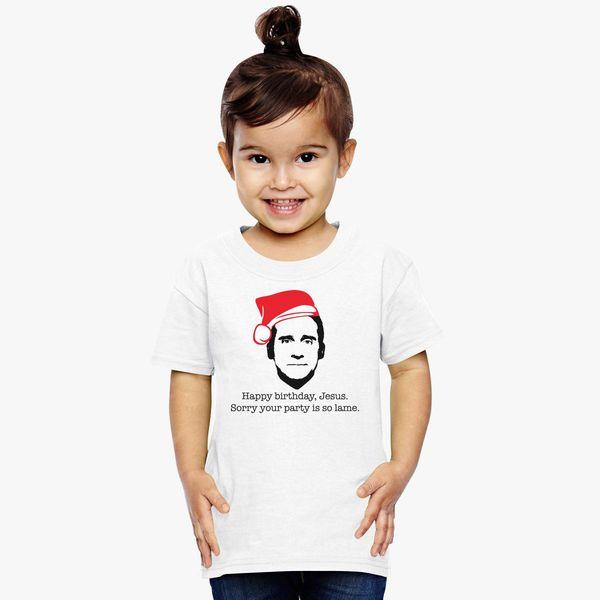 Michael Scott The Office Happy Birthday Jesus Toddler T Shirt