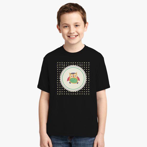 93b434cf Vintage owl Youth T-shirt | Kidozi.com