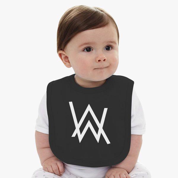 9883496a Alan Walker Logo Baby Bib | Kidozi.com