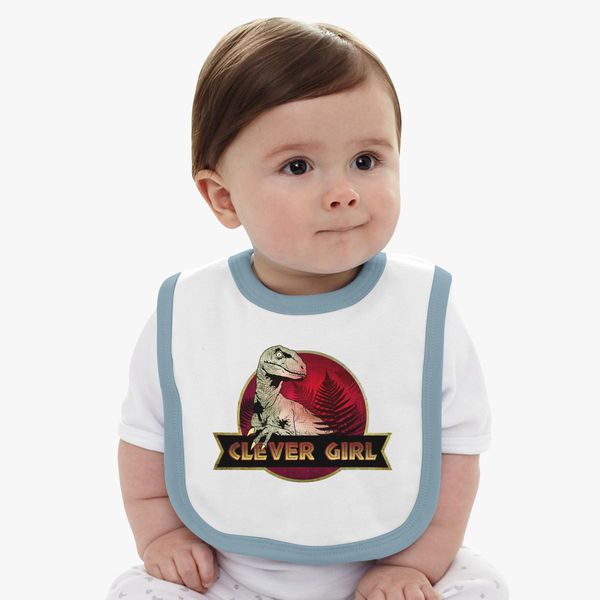 Clever Girl Blue: Clever Girl Baby Bib