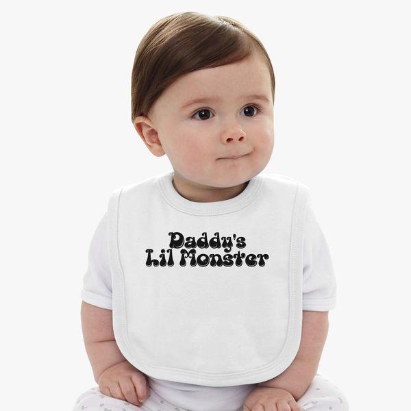 79c22963 Daddy's Lil Monster Baby Bib | Kidozi.com