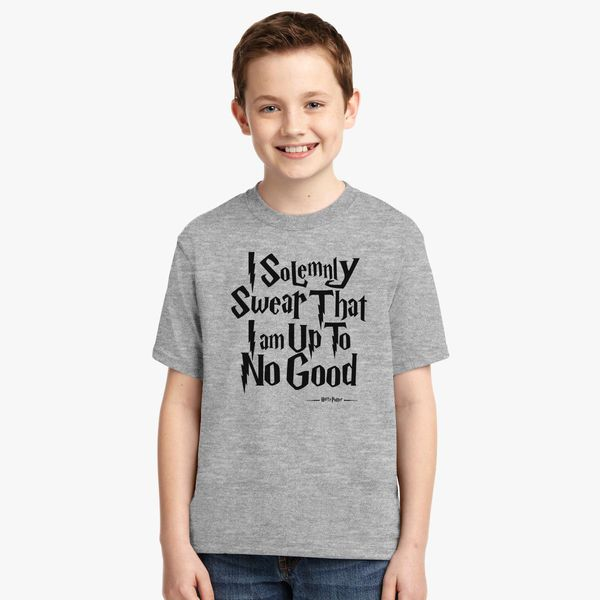 Youth Kids T-Shirt Tee I Solemnly Swear I Am Up To No Good
