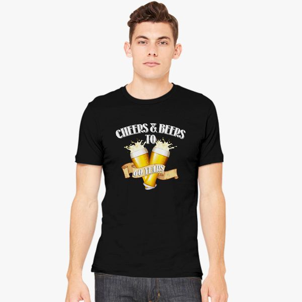 0fb7905e1 Cheers and Beers to 60 Years - 60th Birthday Gift Men's T-shirt | Kidozi.com