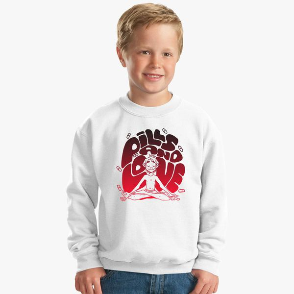 2D Pills and Love Kids Sweatshirt | Kidozi com