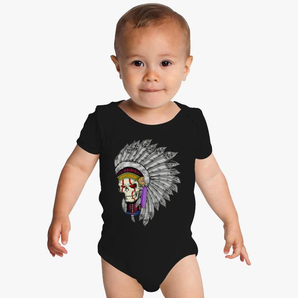 Cool Graphic Art Indian Skull Baby Onesies Kidozicom