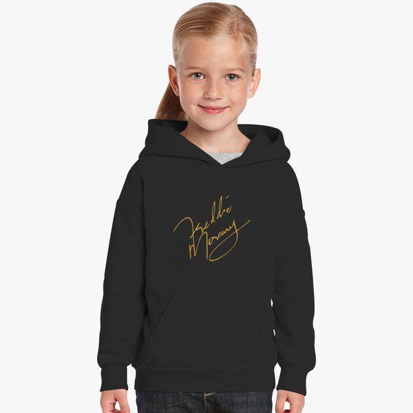 dc926c9b922874 Freddie Mercury Signature Kids Hoodie