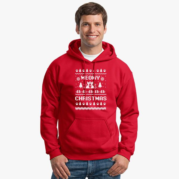 Meowy Christmas Sweater.Meowy Christmas Ugly Sweater Unisex Hoodie Kidozi Com