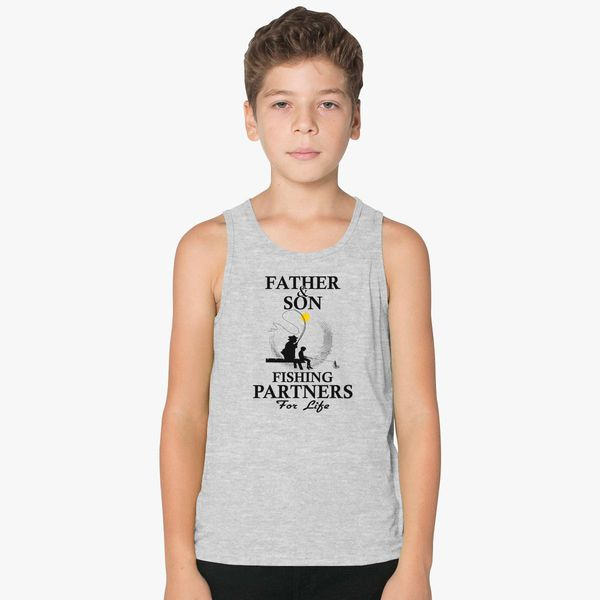7fe53b7d5 Father And Son Fishing Partners For Life Kids Tank Top | Kidozi.com