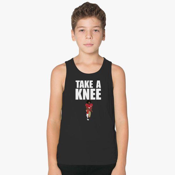 b5467f3811978 Kaepernick Take a Knee Kids Tank Top
