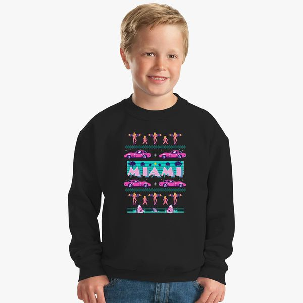 Ugly Christmas Sweater Kids.Miami Vice Ugly Christmas Sweater Kids Sweatshirt Kidozi Com
