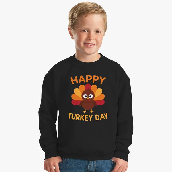 1e36761c Happy Thanksgiving T-Shirt Funny Turkey Day Gift Shirt Kids Sweatshirt |  Kidozi.com